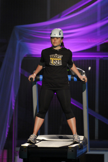 Brittany during Biggest Loser challenge