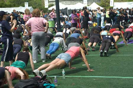 Self Magazine Workout in the Park - Pushups