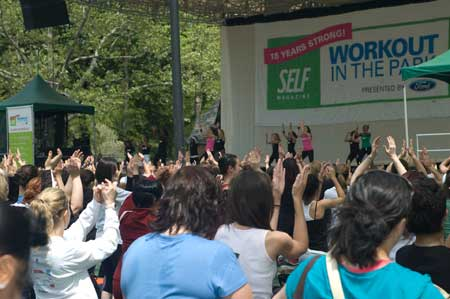 Self Magazine Workout in the Park - Crowd