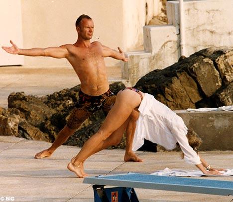 Sting and yoga