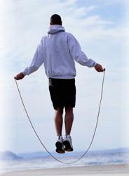 man jump rope