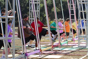 Tara and Kristin beat the Biggest Loser record with more than 1,000 jumps.