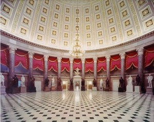 Statuary Hall in the Capitol Building will be the backdrop for Obama's inaugural luncheon.