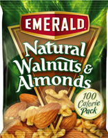 These Emerald Almond snack packs have only 100 calorie servings and no added salt.