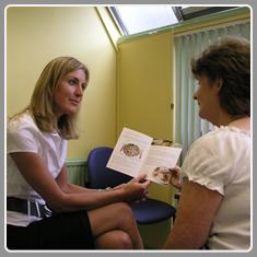 dietitian with patient
