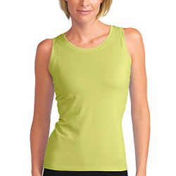 The Training Tank from Lucy wicks away moisture, but fits comfortably like cotton.