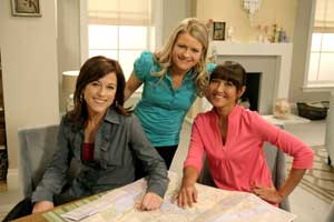 Allison Fishman, left, of Cook Yourself Thin with co-stars Harry Eastwood and Candice Kumai.