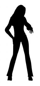 slender woman silhouette