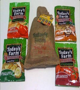 todays farm dried fruit snacks
