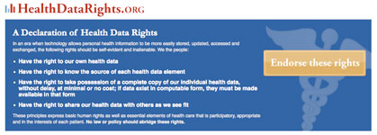 health data rights declaration