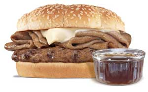 hardees french dip thick burger