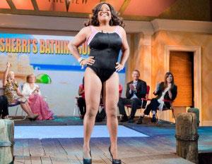 Sherri Shepherd's new bikini figure, via The View