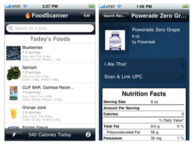 foods scanner iphone app