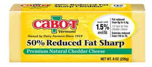 cabot reduced fat cheddar cheese