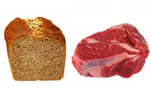 bread and steak