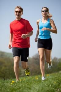 enjoying running training