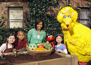 first lady sesame street