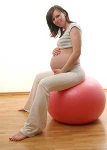 pregnancy and yoga ball