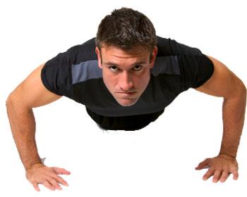 man pushups
