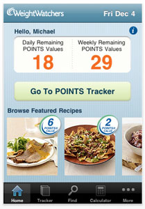 weight watchers iphone