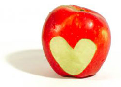 heart apple