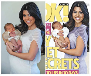 kourtney kardashian baby weight
