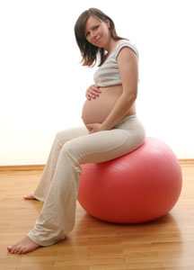 pregnancy fitness ball