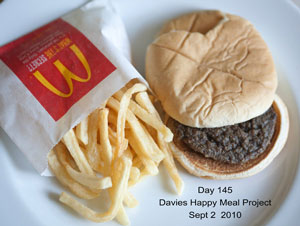 McDonald's Hamburger after 145 Days
