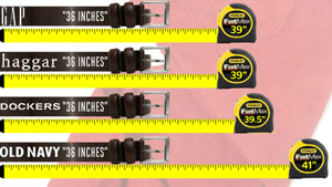 Pants Sizes vs Actual Size