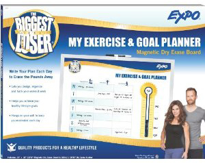 Biggest loser wipe-off boards help you plan for healthy eating and.