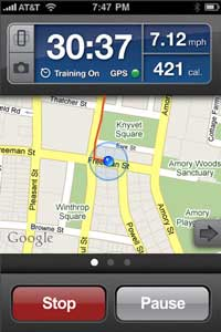 Screen Shot of RunKeeper Pro