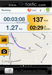 Runtastic screen shot