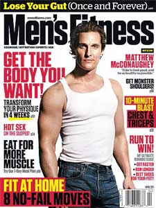 McConaughey Men's Health Cover