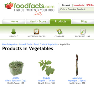FoodFacts website