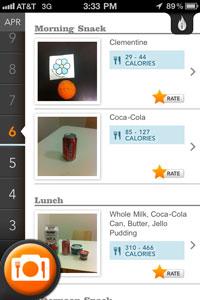 Meal Snap iPhone App Screen Shot