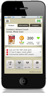 Fooducate iPhone App Screen Shot