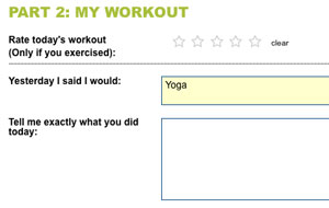 My Body Tutor Daily Feedback