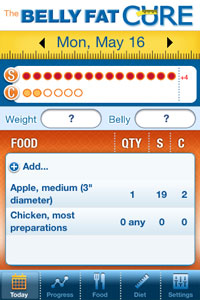 Belly Fat Cure iPhone App Screen Shot