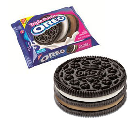Triple Double Oreo cookie and package