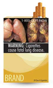 new FDA tobacco warning label
