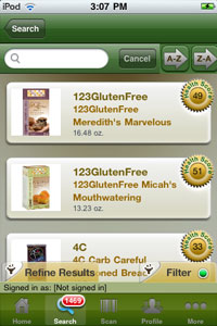 FoodFacts.com iPhone App Screen Shot