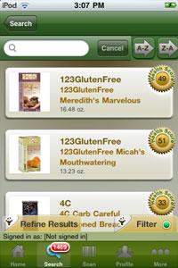FoodFacts.com iPhone App Screen Shot