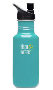Klean Kanteen water bottle in blue