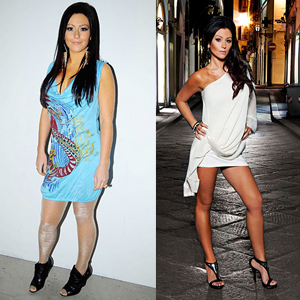 JWOWW before and after weight loss