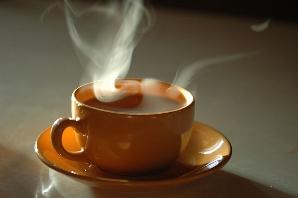 a cup of hot tea