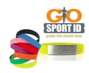 Go Sport ID Wrist bands and logo