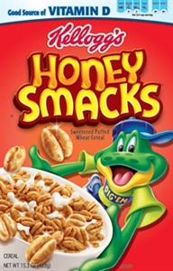 Honey Smacks Cereal Box