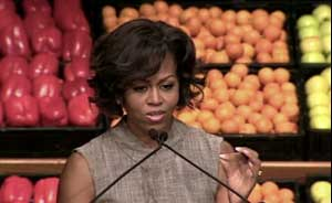 michelle obama addressing nutrition