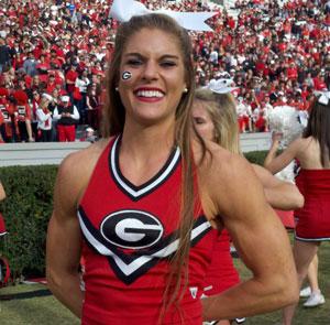 Georgia cheerleaer Anna Watson