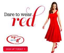 dare to wear red uk ad